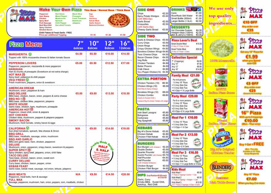 Display Menu Restaurant